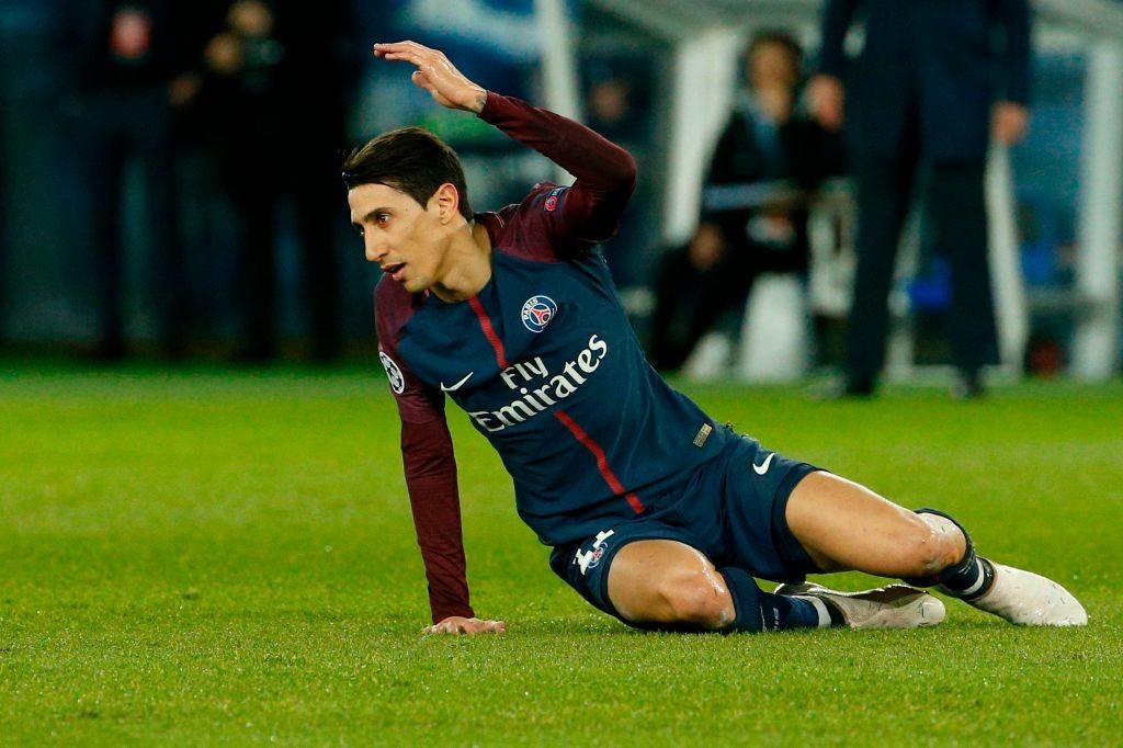 Paris Saint-Germain's Argentinian forward Angel Di Maria