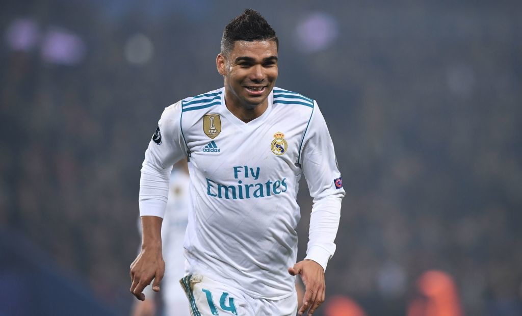 Real Madrid's Brazilian midfielder Casemiro