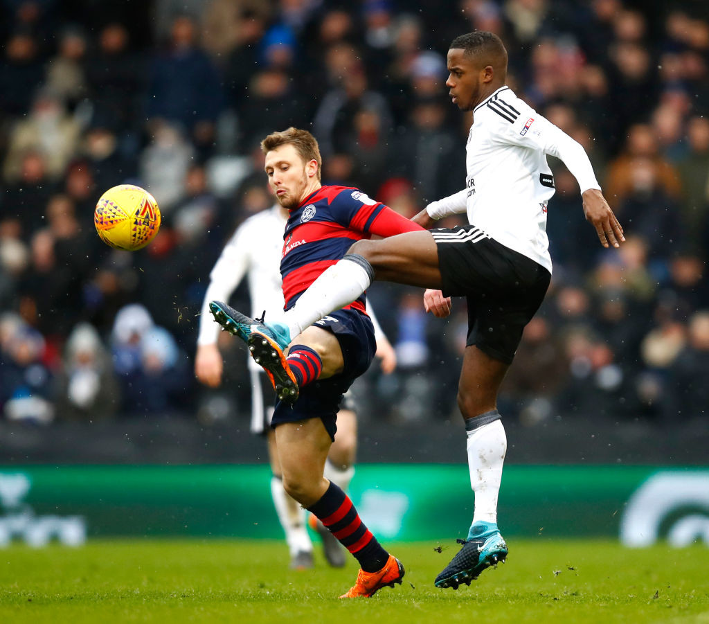 Ryan Sessegnon in action against QPR (r)