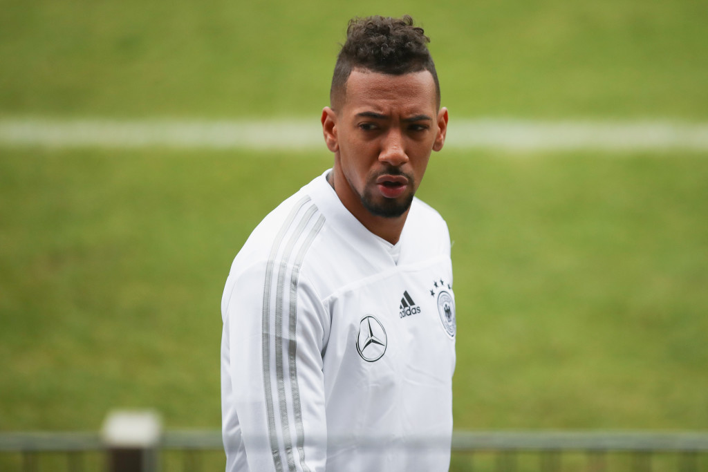 DUESSELDORF, GERMANY - MARCH 21: Jerome Boateng arrives for a Germany training session ahead of their international friendly match against Spain at Paul-Janes-Stadion on March 21, 2018 in Duesseldorf, Germany. (Photo by Maja Hitij/Bongarts/Getty Images)