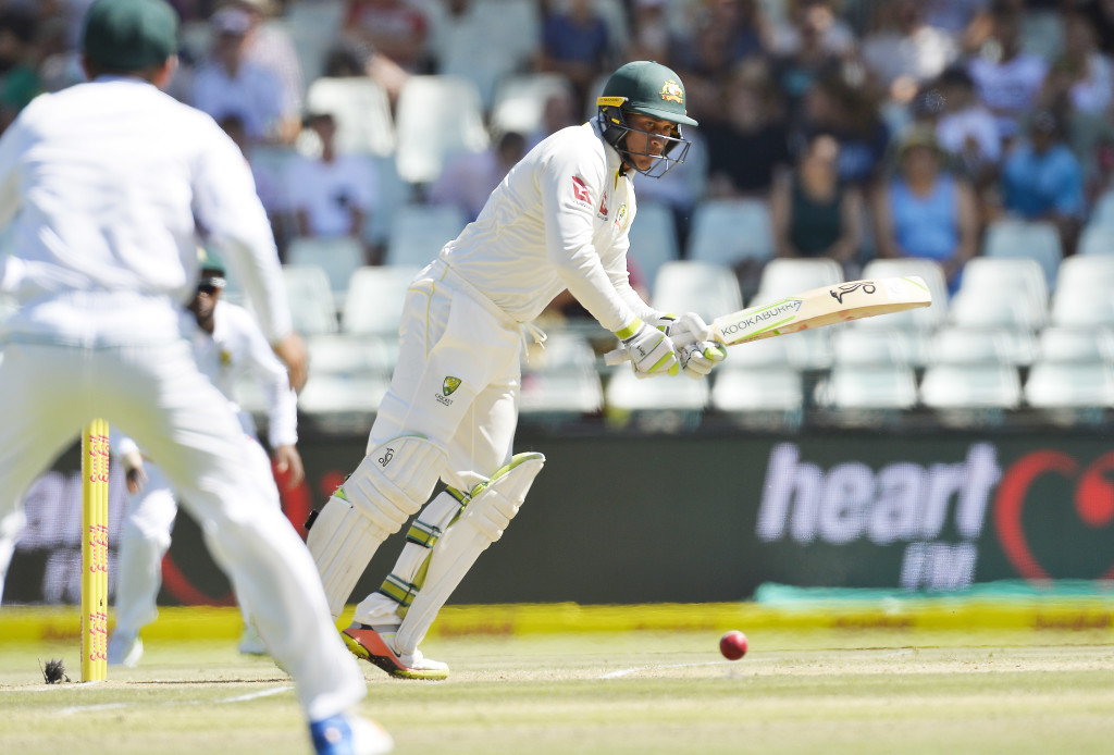 CAPE TOWN, SOUTH AFRICA - MARCH 23: Usman Khawaja of Australia bats during day 2 of the 3rd Sunfoil Test match between South Africa and Australia at PPC Newlands on March 23, 2018 in Cape Town, South Africa. (Photo by Ashley Vlotman/Gallo Images/Getty Images)