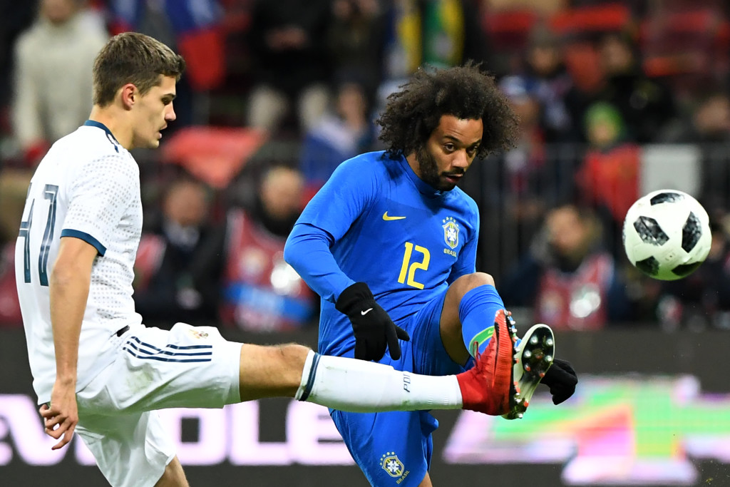 Marcelo (r) is the only one who started against Germany expected to start at this year's World Cup in Russia