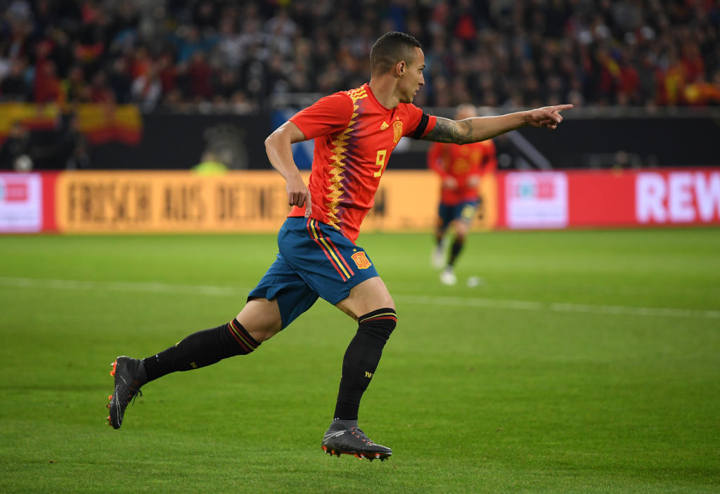 Rodrigo Moreno started up front for Spain vs Germany
