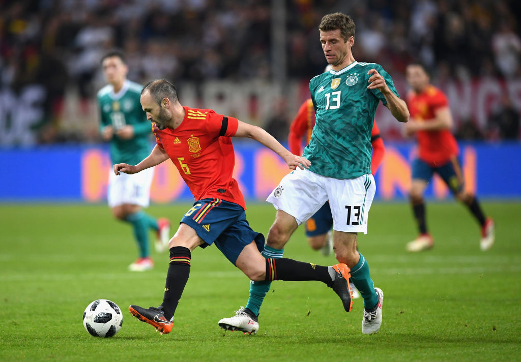 Iniesta had put on a masterclass in midfield for Spain.
