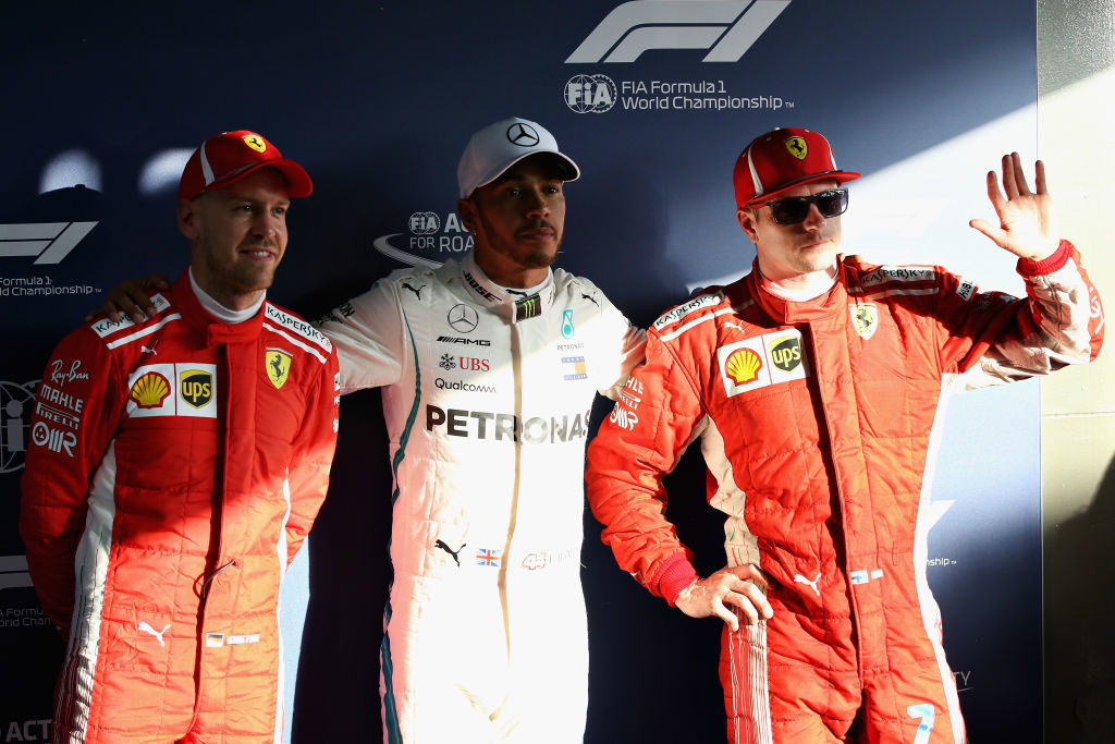 The top three qualifiers for the Melbourne GP.