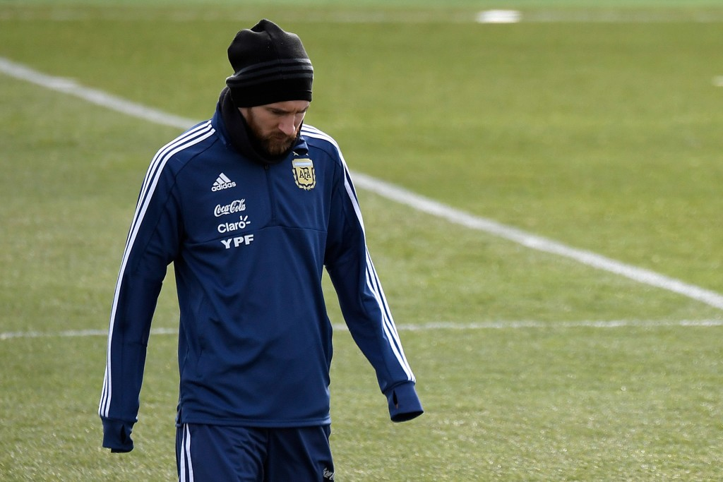 Lionel Messi trained with Argentina but didn't play against Italy or Spain