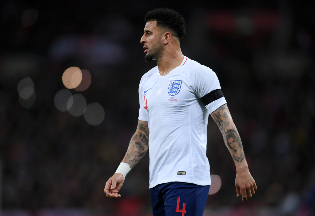 Kyle Walker was named man of the match for his display against Italy