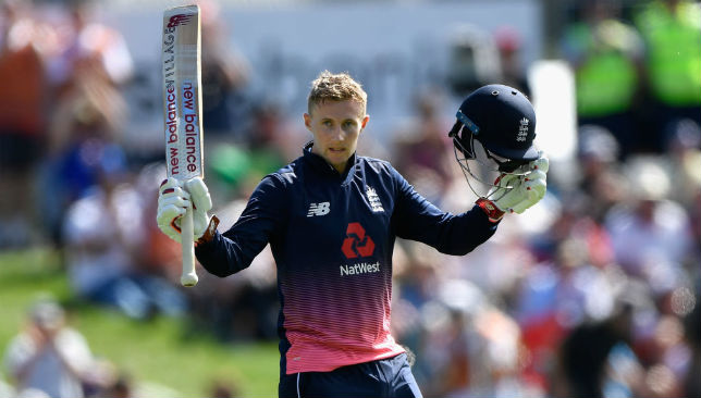 Joe Root reaches his century