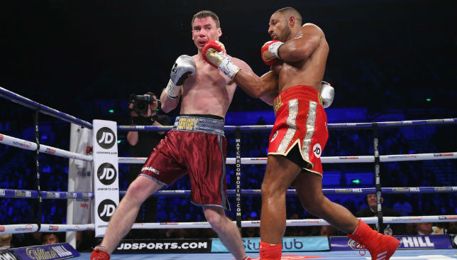 Kell Brook lands a right shot on Sergey Rabchenko