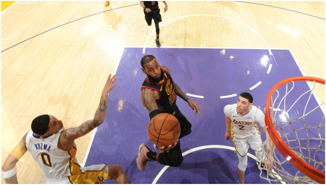 1cdbbf2f18d Los Angeles Lakers gave LeBron James something to think about with  hammering of Cleveland Cavaliers