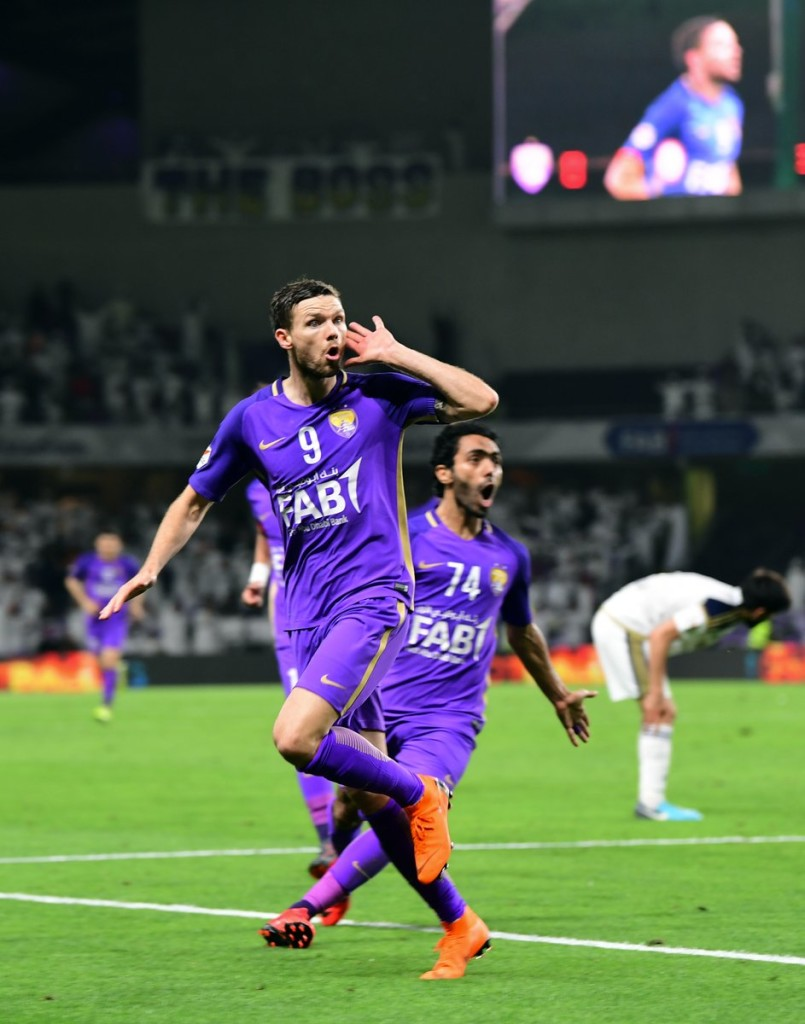 Marcus Berg celebrates against Al Ain (Al Ain).