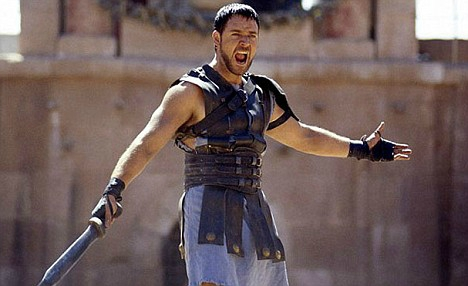 """Russel Crowe as Maximus: """"Are you not entertained?"""""""