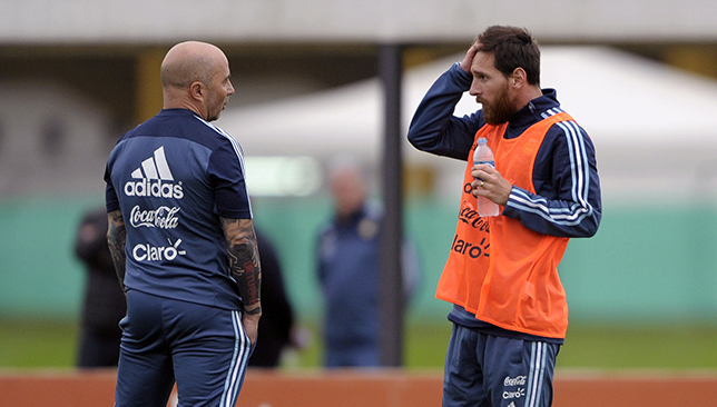 Argentina boss Jorge Sampaoli