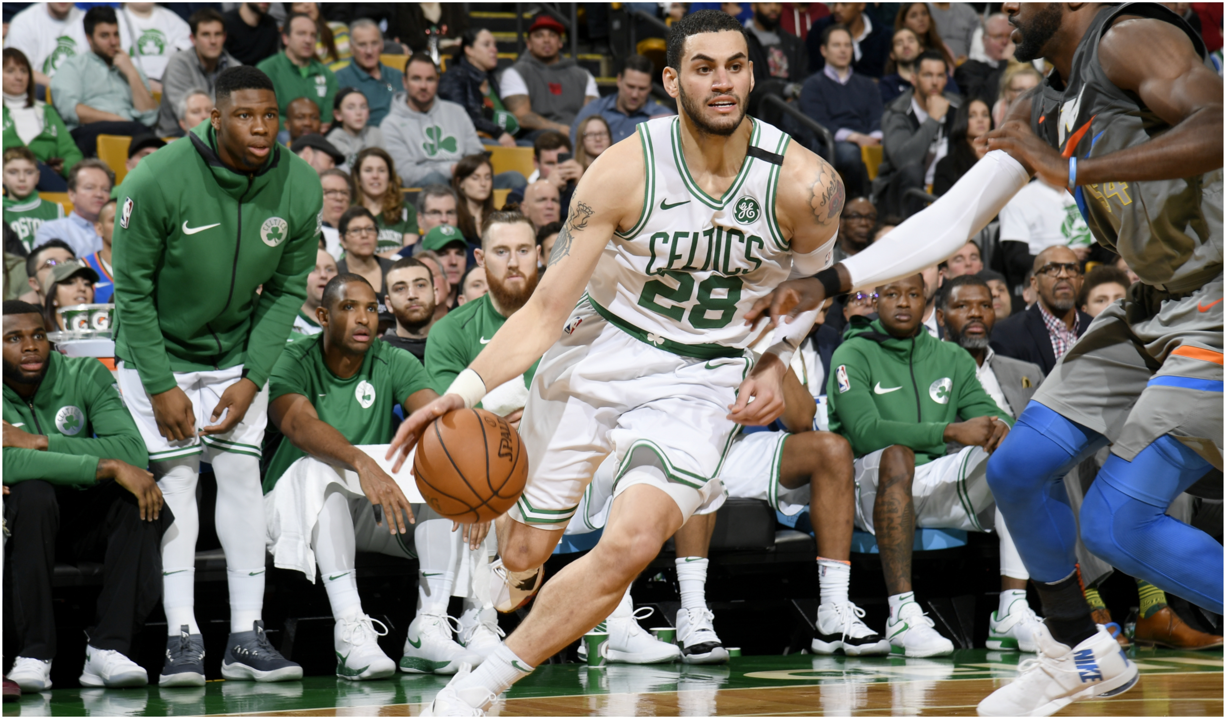 Abdel Nader is in his first season with the Celtics after playing in the G-League last year.