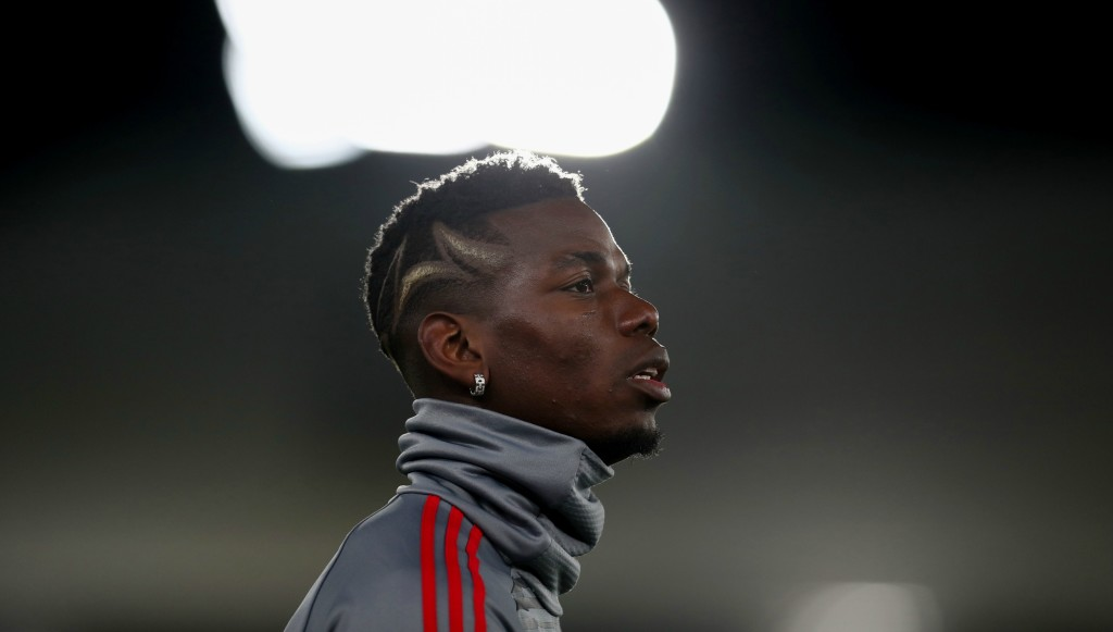 Paul Pogba missed the game after getting injured in training on Friday.