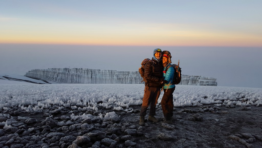 Olga and Mohamad have completed two of the Seven Summits.