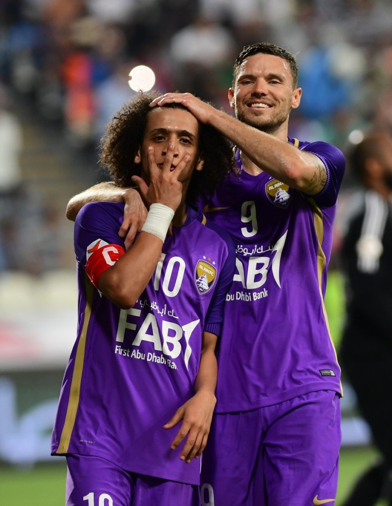 Omar Abdulrahman's new trademark celebration was wheeled out in Abu Dhabi.