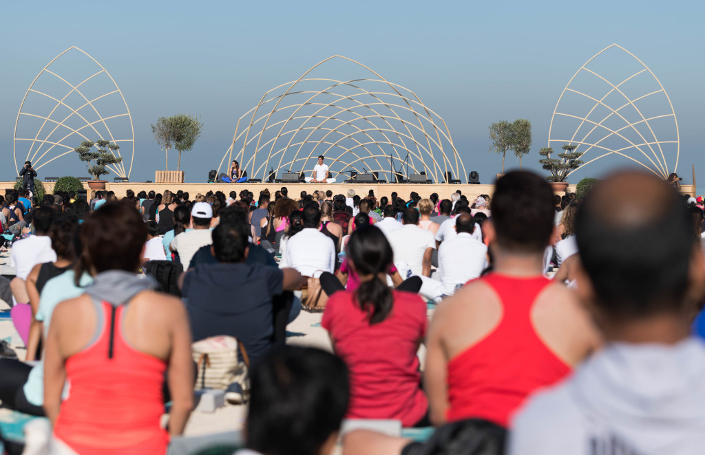 Over 2000 people at XYoga Dubai