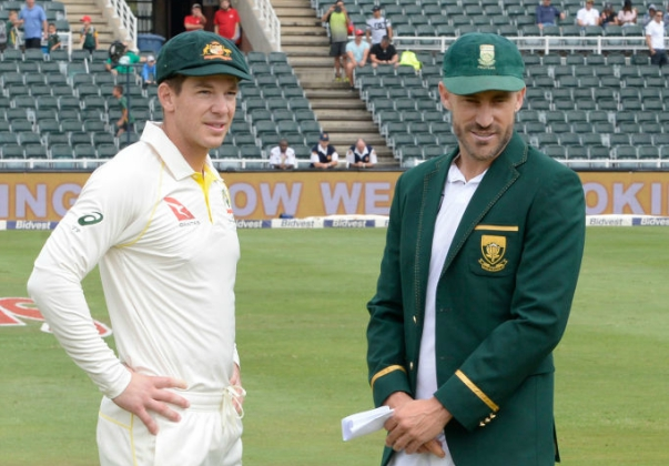 Paine had a talk with Faf du Plessis ahead of the toss in the final Test.