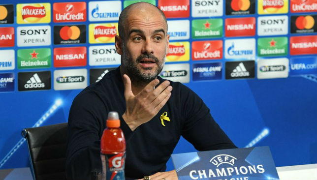 "Pep Guardiola insists his side will ""play football"" at Anfield."