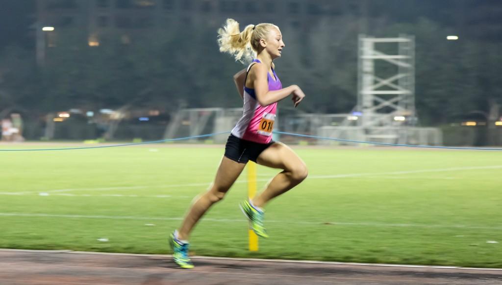 Champion: Megan Dingle won the 800m
