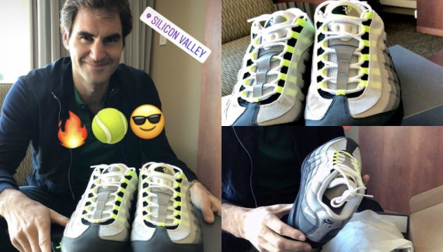 big sale 2280c 41995 Roger Federer unveils new RF Nike Air Max shoes ahead of Match for Africa 5