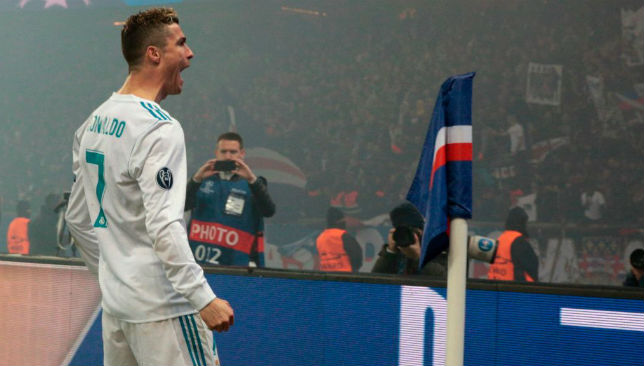 Ronaldo celebrates after scoring