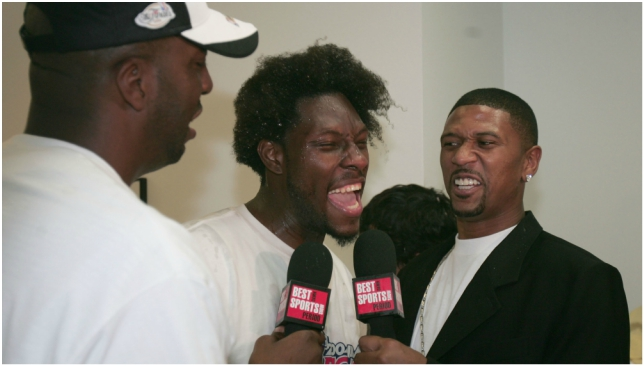 Jalen Rose interviews Ben Wallace for The Best Damn Sports Show Period.