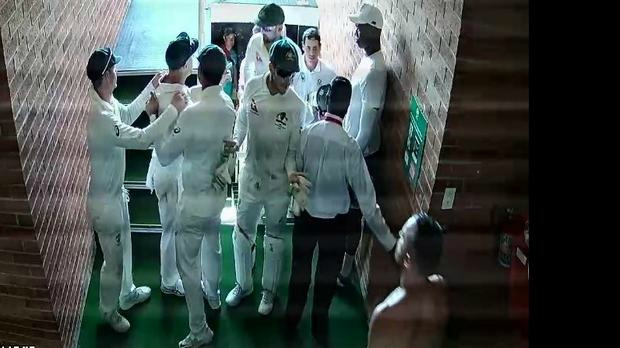 Ugly scenes in Durban as David Warner confronted Quinton de Kock in the grand stand.