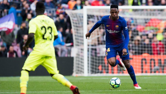 Yerry Mina made just six appearances for Barca last term.