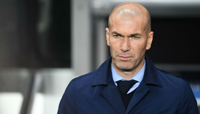 Zinedine Zidane reacts