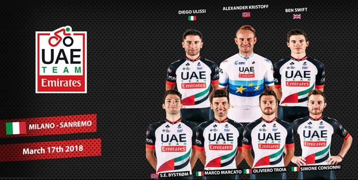 The star-studded UAE Team Emirates line up.