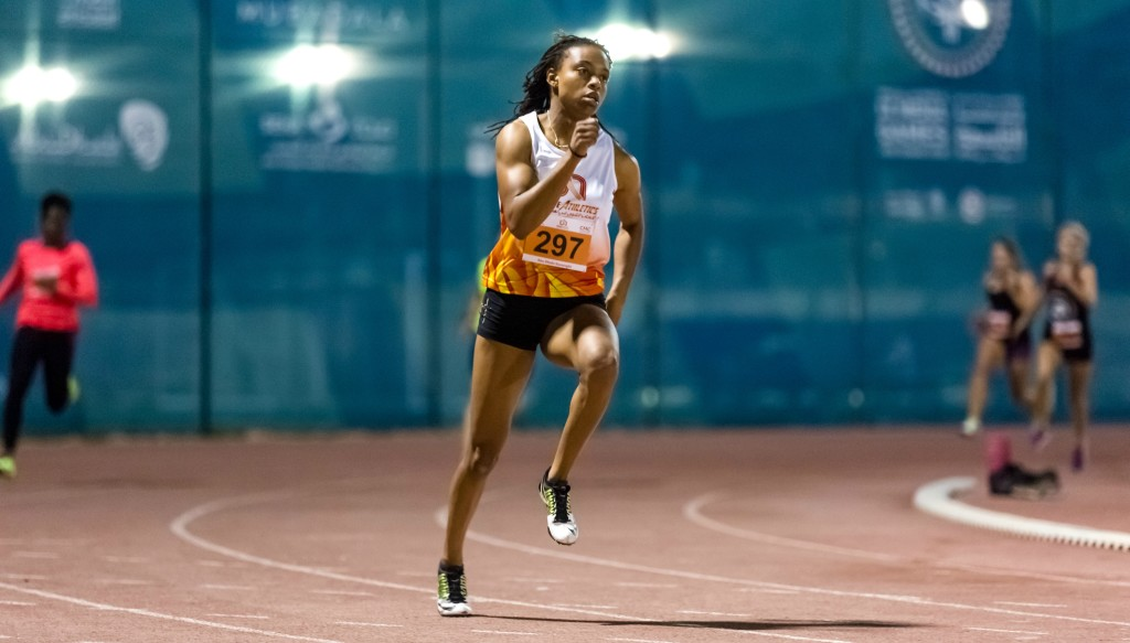 On track: Kimbely Baptiste