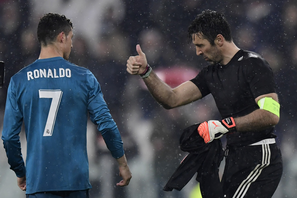 At this point, there's nothing for Buffon to do besides acknowledge Ronaldo's greatness.