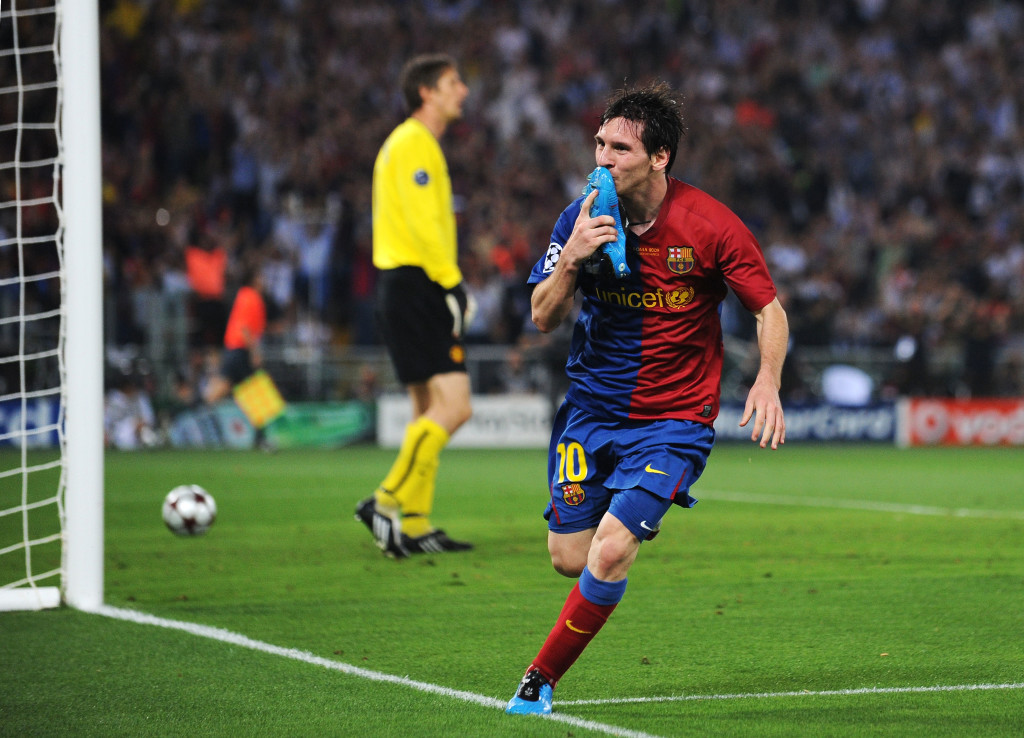 Lionel Messi announced himself to the world in the 2009 Champions League final.
