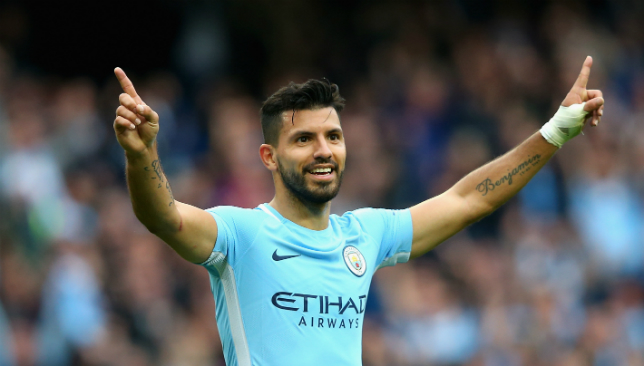 Aguero is City's leading scorer this season.