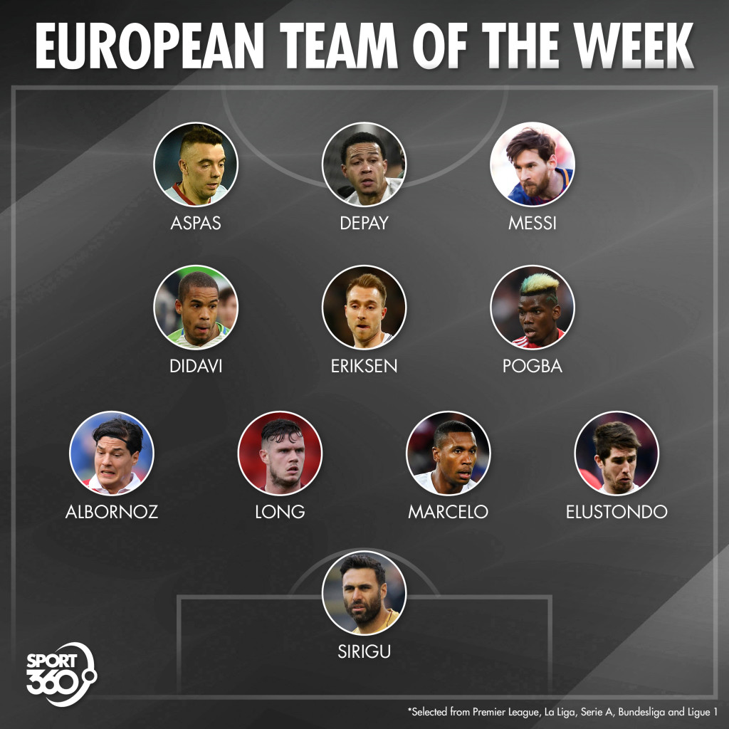 Our European Team of the Week from the top-five leagues
