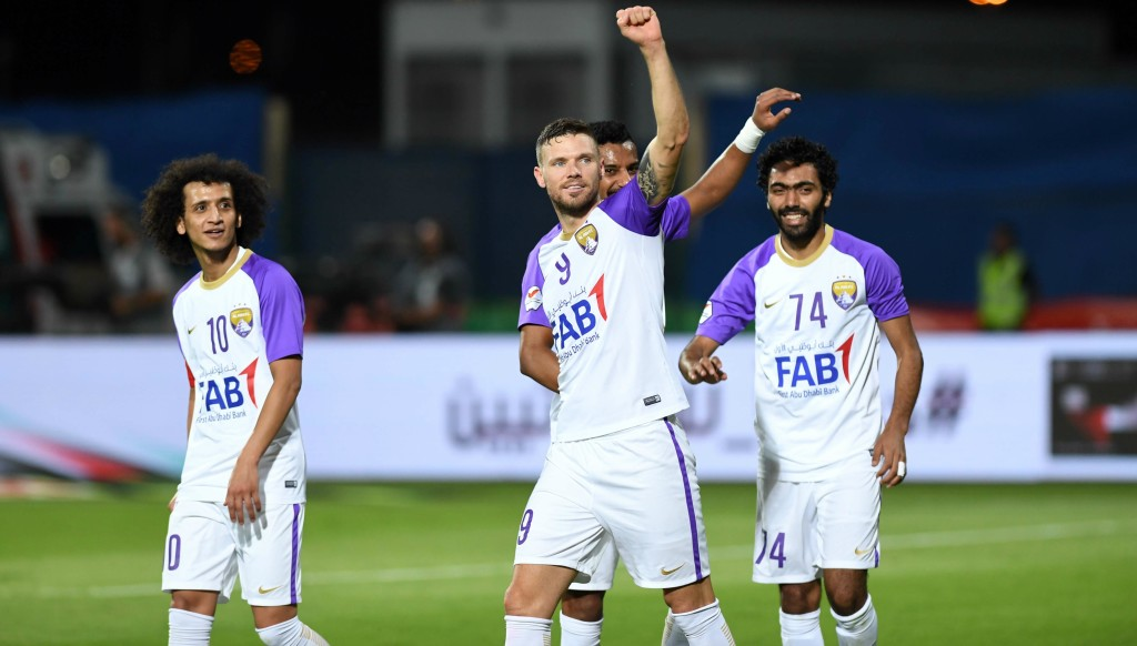 Marcus Berg netted a hat-trick for Al Ain.
