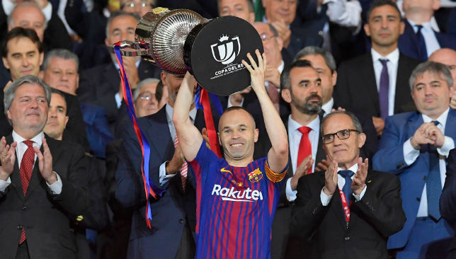 Decorated: Barcelona star Andres Iniesta.