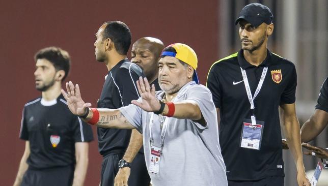 Maradona departs UAE club after missing automatic promotion