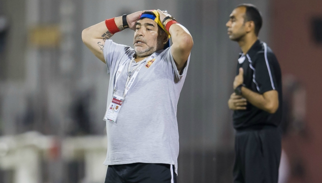 Maradona quits as coach of second division UAE team - lawyer