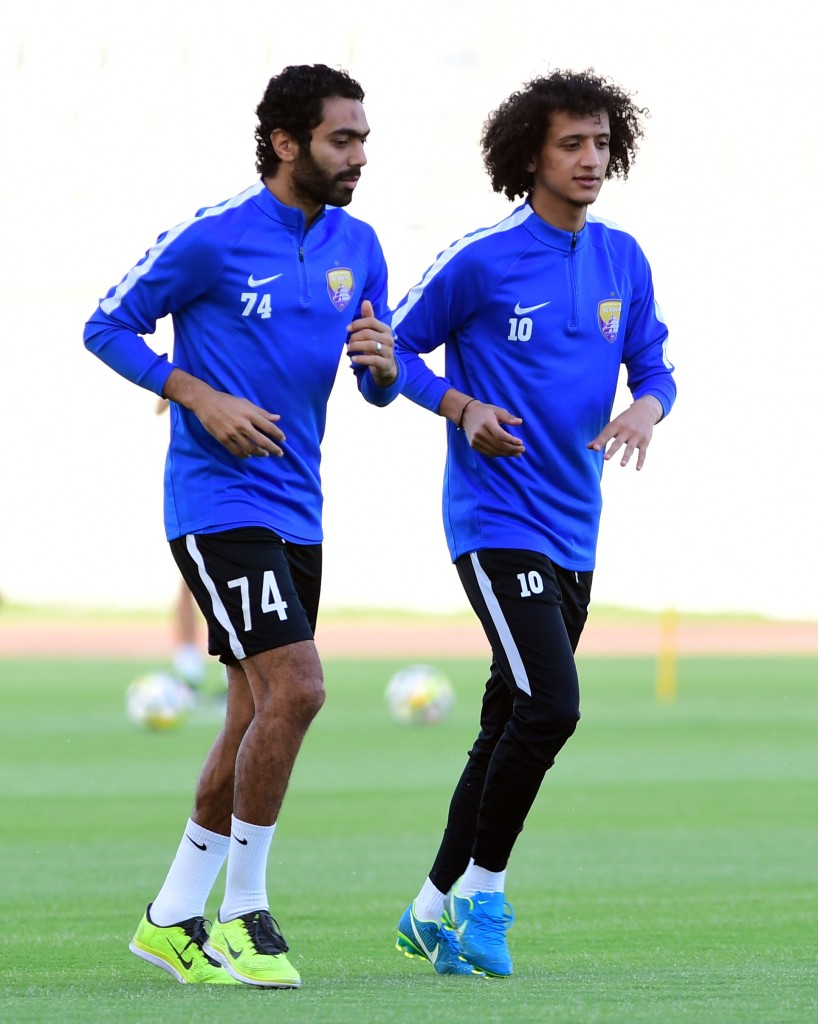 Hussein El Shahat (l) and Omar Abdulrahman (r) are key weapons in Al Ain's armoury (Al Ain).