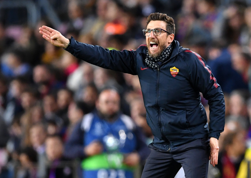 Eusebio Di Francesco was a frustrated figure on the sidelines last night