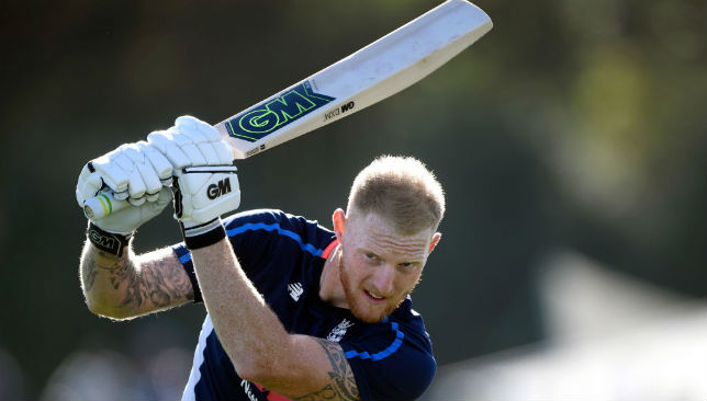 Ben Stokes plays a shot during training.