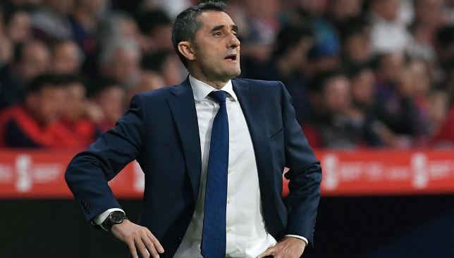 Ernesto Valverde reacts