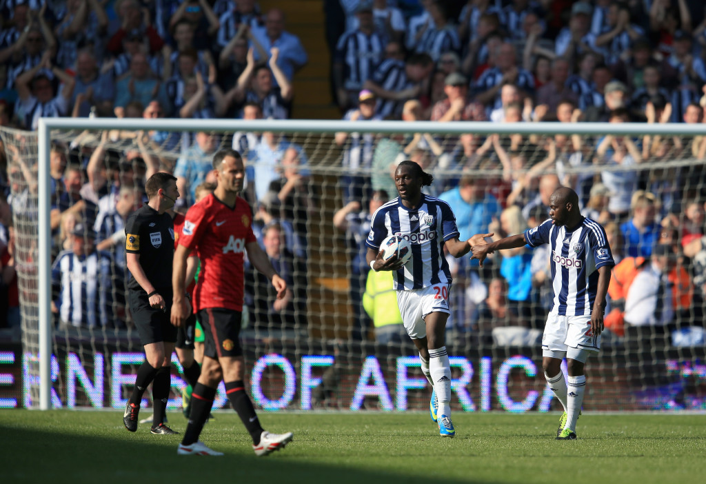 Romelu Lukaku scored four times for West Brom in Sir Alex Ferguson's final Manchester United match in May 2013.