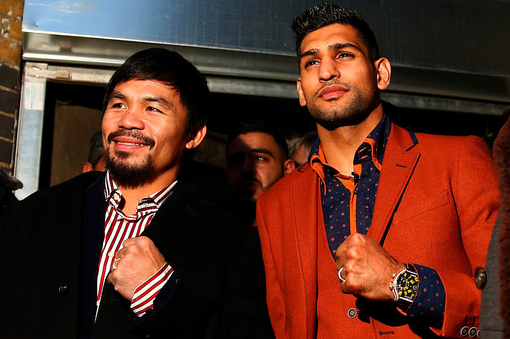 Manny Pacquiao and Amir Khan back in 2015