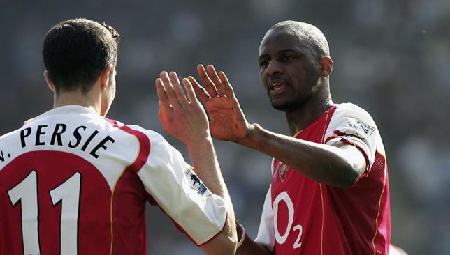 Key man: Vieira spent nine seasons at Arsenal