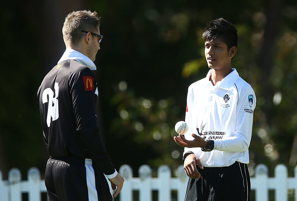 Lamichhane (R) has bags of talent with the ball.