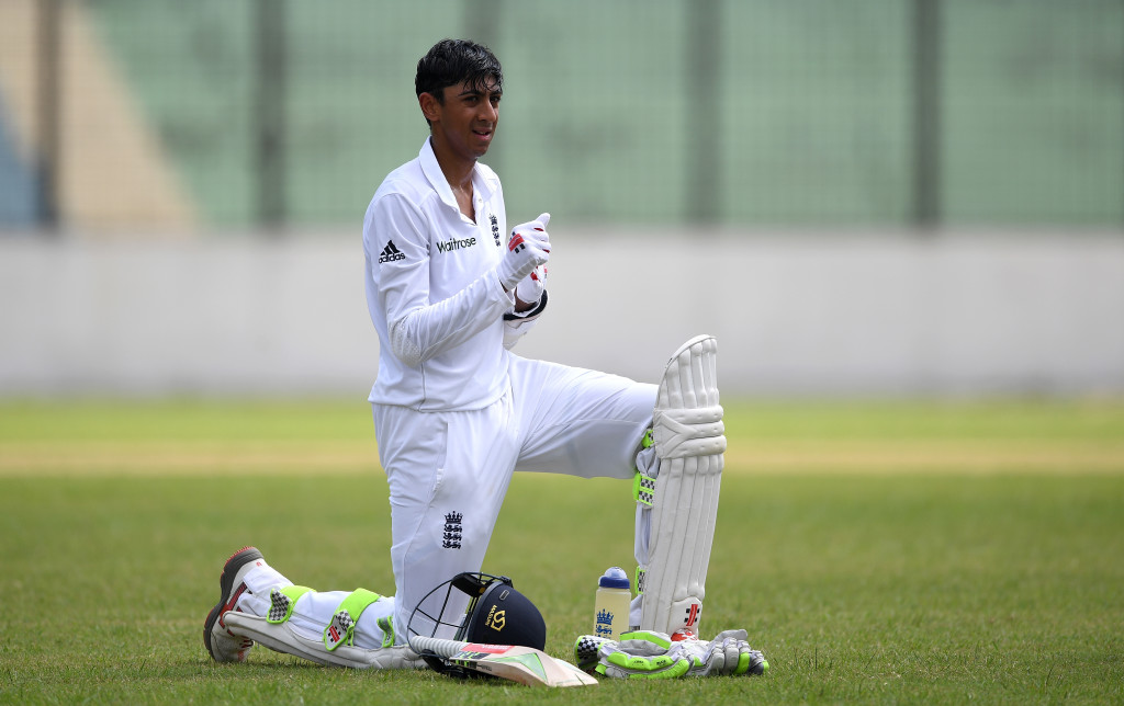 CHITTAGONG, BANGLADESH - OCTOBER 17: Haseeb Hameed of England during day two of the tour match between a Bangladesh Cricket Board XI and England at MA Aziz stadium on October 17, 2016 in Chittagong, Bangladesh. (Photo by Gareth Copley/Getty Images)